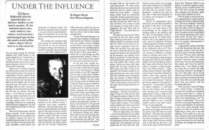 Under the Influence Article